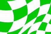Green And White Checkered Racing Flag
