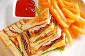 Dreifach Decker-Club-Sandwich