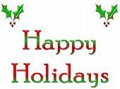 Greeting Card Happy Holidays
