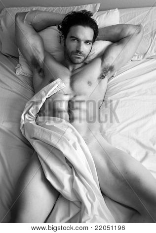 Nude Male Model Black And White
