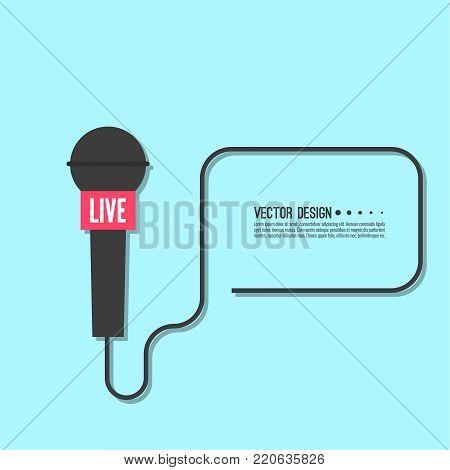 Poster: Journalism concept Live