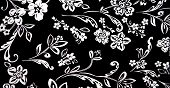 White Floral Black