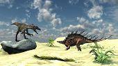 utahraptor and kentrosaurus