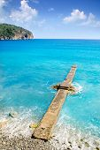 Andratx Camp de Mar in Mallorca Balearic Islands stone pier beach