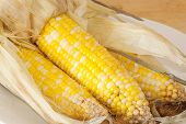Corn Steamed In Husk
