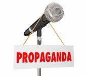 Propaganda Microphone False Information 3d Illustration poster