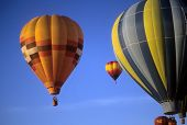 Tourists Ride Hot Air Balloons During A Mass Ascension