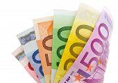 A Fan Of Euro Bills