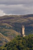 picture of william wallace  - National Wallace Monument on the hill Stirling Scotland - JPG