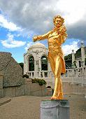 The Statue Of Johann Strauss In Stadtpark