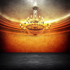 picture of flambeau  - empty space with chandelier - JPG