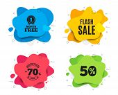 Flash Sale. Liquid Shape, Various Colors. Special Offer Price Sign. Advertising Discounts Symbol. Ge poster