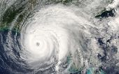 Category 5 Super Typhoon From Outer Space View. The Eye Of The Hurricane. Some Elements Of This Imag poster