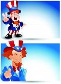 Uncle Sam Portrait Vector