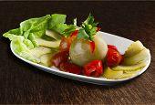 Assorted pickles salad