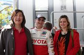 LOS ANGELES - APR 14:  Doug Fregin (Center), friends at the 2012 Toyota Pro/Celeb Race at Long Beach