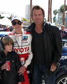 LOS ANGELES - APR 14:  Eileen Davidson, son, husband Vince Van Patten at the 2012 Toyota Pro/Celeb R