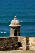 stock photo of san juan puerto rico  - San Cristobal Castle in Old San Juan Puerto Rico - JPG