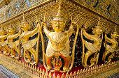 Thailand,The grand palace.Golden Garuda