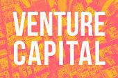 Venture Capital Theme With Aerial Duotone Gradient San Francisco Background poster