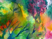 Colorful watercolor painting 1