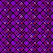 Violet Seamless Square Pattern Background - Purple Geometrical Vector Graphic Design From Diagonal S poster