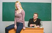 Equal Rights And Liberties. Man And Woman Study University. Right Education. Mentorship And Educatio poster