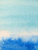 Light and Dark Blue Watercolor Background 2