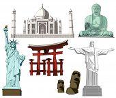 Abbildung der Welt berühmten Denkmal