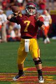 LOS ANGELES - 17 de setembro: USC Trojans QB Matt Barkley #7 durante o jogo NCAA Football entre o Syrac
