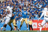 PASADENA, CA. - SEP 17: UCLA Bruins QB Kevin Prince #4 in action during the NCAA Football game betwe