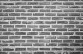 Abstract Wall Black Brick Wall Texture Background Pattern, Brick Surface Backgrounds. Vintage Brickw poster