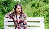 Gorgeous Girl Makeup Pretty Face. Adorable Girl Outdoors. Cosmetics Concept. Ranch Girl. Beauty Cosm poster