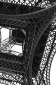 Eiffel Tower Also Called Tour Eiffel In French Language In Paris Seen From Below poster