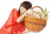 Asian Flower Girl
