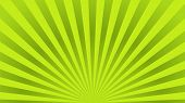 Green Ray Background. Vintage Abstract Texture. Retro Starburst, Sun Beam. Halftone Color. Light Bur poster