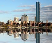 Skyline de Back Bay de Boston, Massachusetts