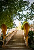 foto of sanctification  - View on a temple with long path of stairs at front - JPG