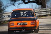 Leiria, Portugal - February 2: Paulo Soares Drives A Bmw 2002 During 2013 Amateur Winter Rally, In L