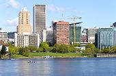 Portland Oregon Downtown Skyline.