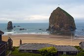 Canon Beach Oregon View From Above