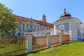 barocken Portal in Herzogenburg Kloster Park, Österreich
