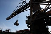 Unloading crane.