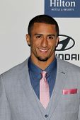 LOS ANGELES - FEB 9:  Colin Kaepernick arrives at the Clive Davis 2013 Pre-GRAMMY Gala at the Beverl