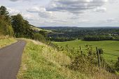 North Downs Landschaft. Surrey. UK