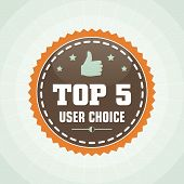 Vintage Top User Choice Label