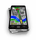 Cellular phone as GPS navigator. My own design