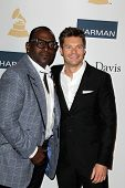 LOS ANGELES - FEB 9:  Randy Jackson, Ryan Seacrest arrives at the Clive Davis 2013 Pre-GRAMMY Gala a