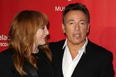 LOS ANGELES - FEB 8:  Patti Scialfa, Bruce Springsteen arrives at the 2013 MusiCares Person Of The Y