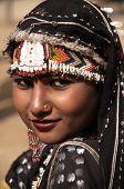 Portrait Of An Indian Dancer In Tribal Dress